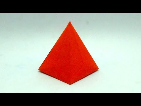 Easy Paper Pyramid Making Out of Paper - How to Make Origami Pyramid Toy for Children