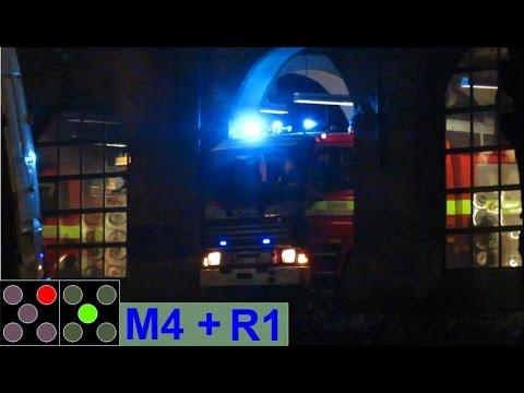 2 calls - HLF M4 + LF/RW r1 aarhus brandvæsen brandbil i udrykning
