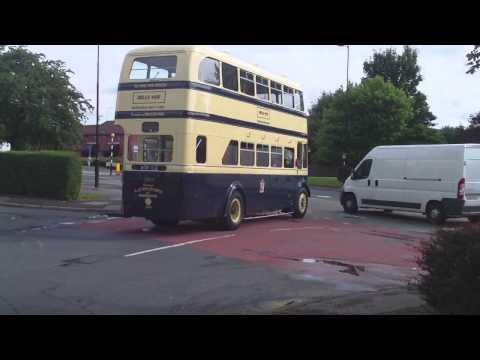 **VINTAGE** 1955 Guy Arab Double Decker Birmingham bus - 1.8.13 - HD