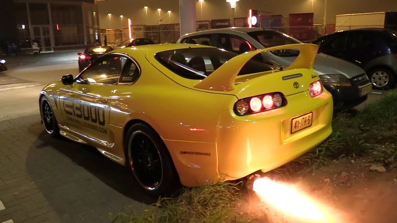 91bb0ffa5ebd 700HP Toyota Supra FROM HELL!! HUGE Flames   BURNOUTS!! - YouTube