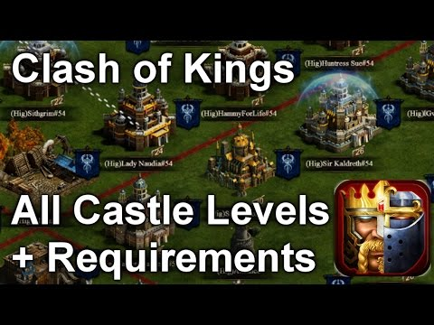 Clash Of Kings ALL Castle Levels With Requirements (1-30) Guide HD