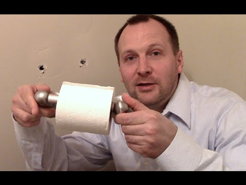 how to fix a ripped out toilet paper holder or towel rod youtube. Black Bedroom Furniture Sets. Home Design Ideas