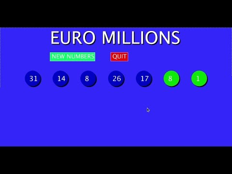 Processing java mode Euro Millions lottery game