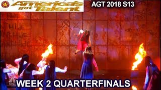 The Sacred Riana Scary Magician MULTIPLE SACRED RIANAS QUARTERFINALS 2 America's Got Talent 2018 AGT