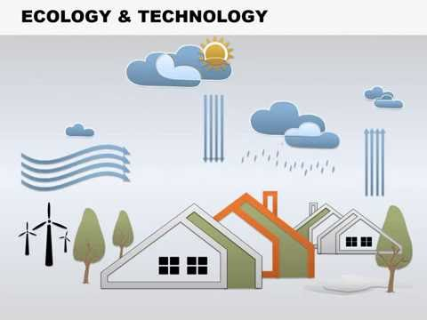Ecology and Technology PowerPoint Charts - Ecology Technology