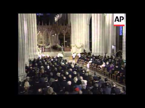 USA: WASHINGTON: CATHEDRAL FUNERAL CEREMONY FOR RON BROWN