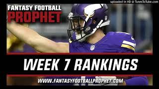 Week 7 Fantasy Football Rankings