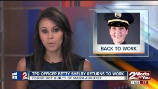 Tulsa Police Officer Betty Shelby returns to work