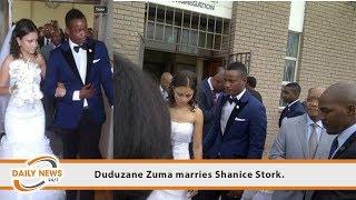 Duduzane Zuma marries Shanice Stork.
