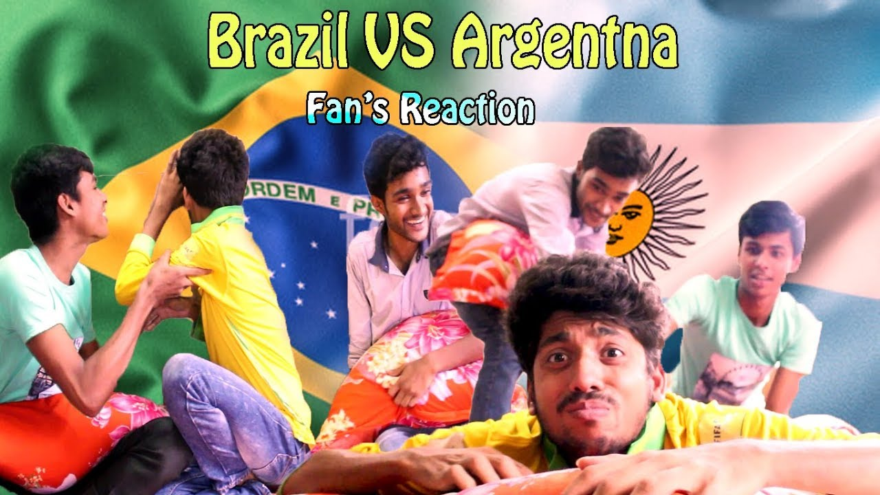 Brazil vs Argentina Bangla Funny Video 2018 l আর্জেন্টিনা বনাম ব্রাজিল Fan Reaction l Black Shadow