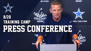 8/20 LIVE Jason Garrett Press Conference | Dallas Cowboys