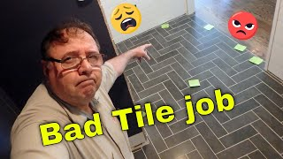 bad tile job only 3 days old and it has to come out