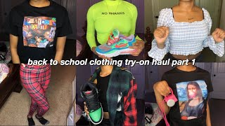 HUGE BACK TO SCHOOL TRY-ON HAUL 2020 PART 1 🔥 | fashionnova, prettylittlething, shein, etc.