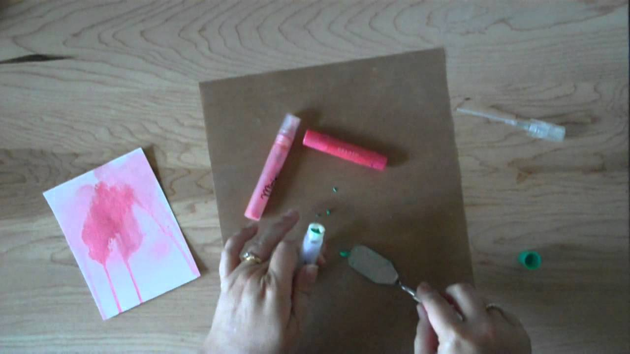 creating your own spray inks with GelatosYouTube