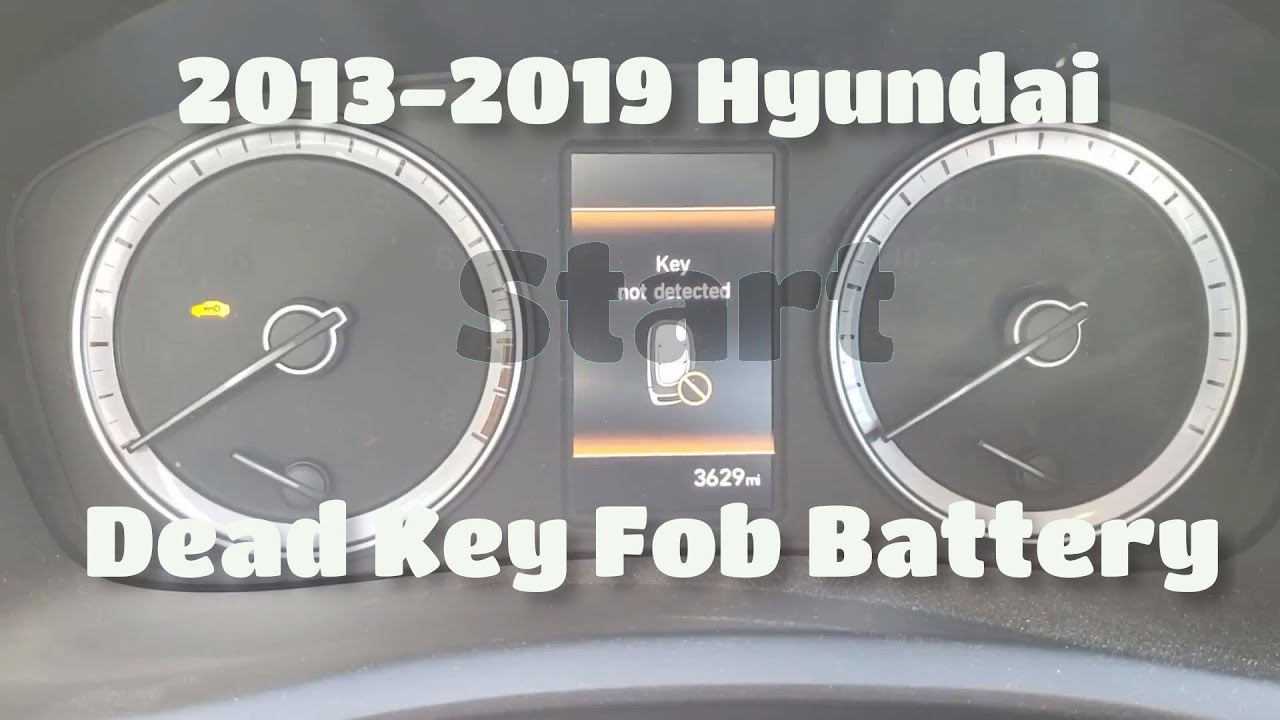 2013 - 2019 Hyundai Sonata - Start with Dead Key Fob Battery