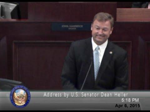 Senator Heller Addresses the Nevada Legislature