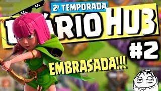 Diário HU3 #2 - ARQUEIRA LVL 6 EMBRAZADA! e evolução no RECEM-CV9 | Clash of Clans