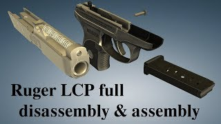 Ruger LCP: full disassembly & assembly