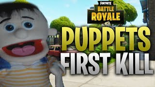 FORTNITE - PETEY THE PUPPET GETS HIS FIRST KILL!