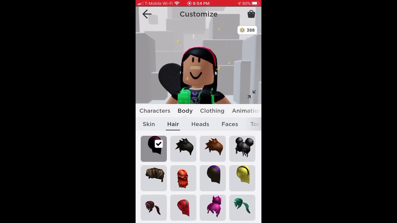 How To Put Two Hairs On Roblox Mobile Android How To Put Two Hairs On Phone In Roblox Youtube