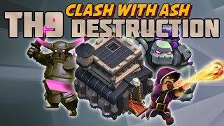 Clash Of Clans | TH9 Shattered GoLaLoon & GoHoWi with Low to Mid level Heroes