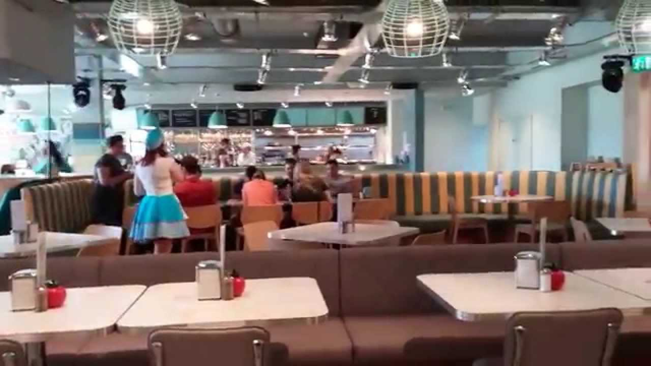 the new american diner at butlins bognor youtube. Black Bedroom Furniture Sets. Home Design Ideas