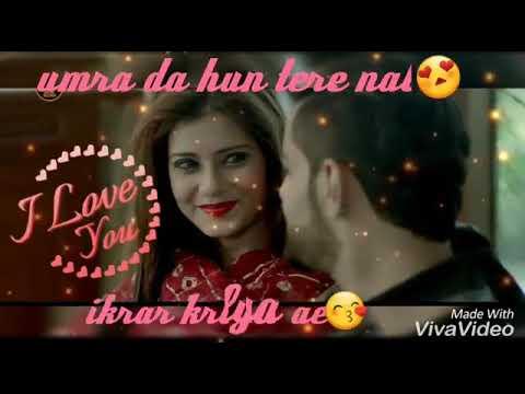 Oh rishta aagaaz punjabi singer best love song wtsp status video