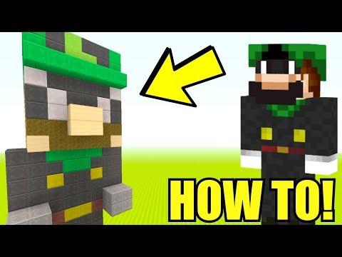 MR. L MINI STATUE! [EVIL LUIGI] - How To Super Mario - (Minecraft Switch)