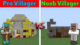$ Minecraft NOOB VILLAGER vs PRO VILLAGER - ROBBERY BANK IN VILLAGE BATTLE IN MINECRAFT / Animation