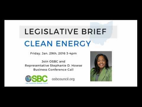OSBC Legislative Briefing Call on Ohio Clean Energy jan2016