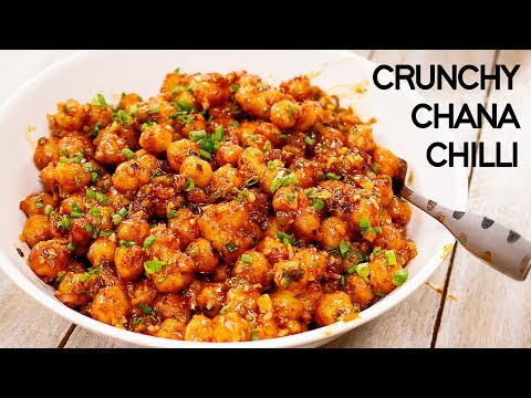 Chilli Chana Recipe - Restaurant Style Crunchy Chickpeas - CookingShooking