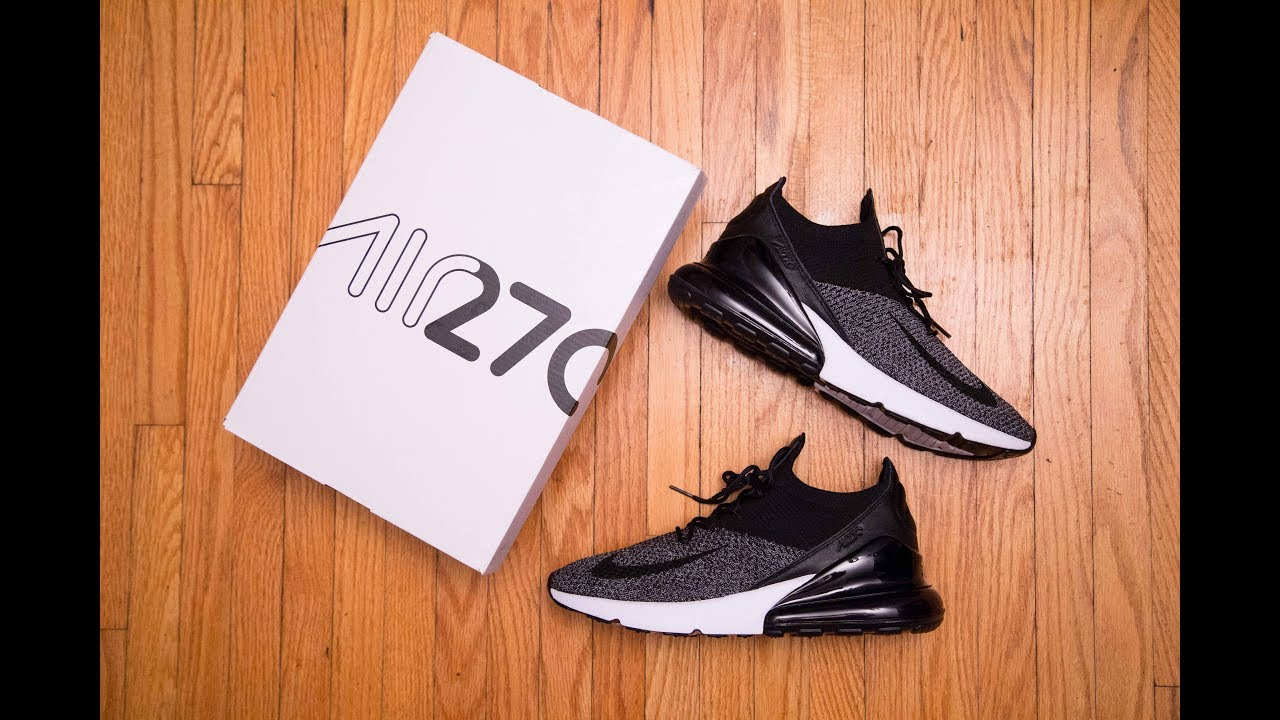 new styles f1610 ef0dd How different is FLYKNIT     Nike Air Max 270 Flyknit  Oreo  Review and On  Feet