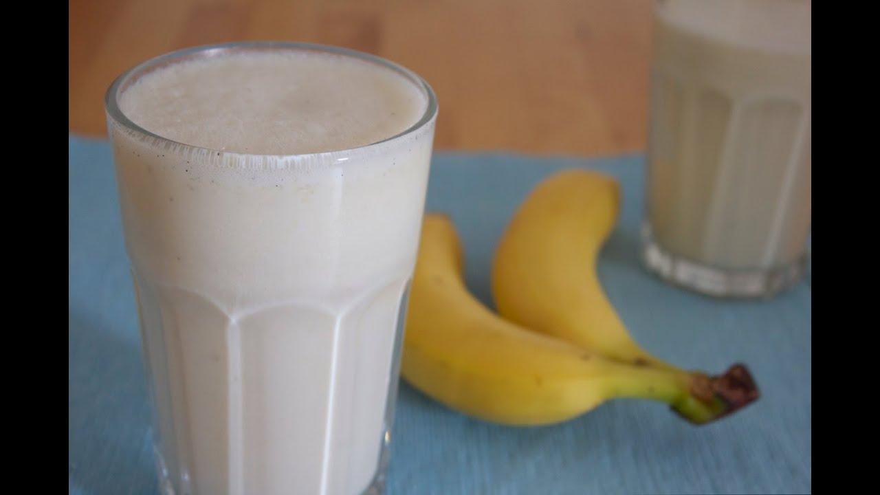 einfaches und schnelles rezept bananen vanille milchshake best milchshake ever youtube. Black Bedroom Furniture Sets. Home Design Ideas
