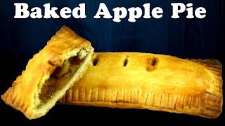 Baked Apple pie inspired by McDonald&#39s Apple turnovers Flaky pie crust from scratch Yummylicious