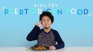 Kids Try Puerto Rican Food