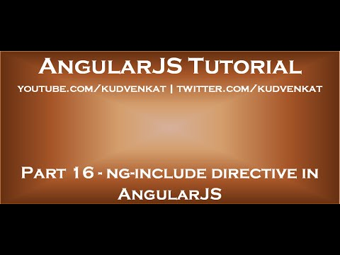 Ng Include Directive In AngularJS