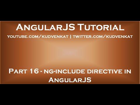 Ng include directive in angularjs youtube ng include directive in angularjs pronofoot35fo Choice Image
