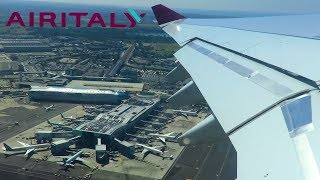 AIR ITALY A330-200 POWERFUL ONBOARD TAKEOFF from Rome Fiumicino Airport!