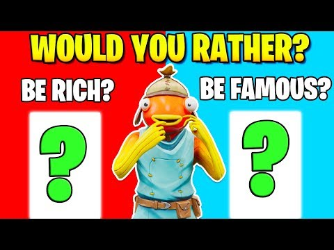 *New* WOULD YOU RATHER Game In Fortnite!