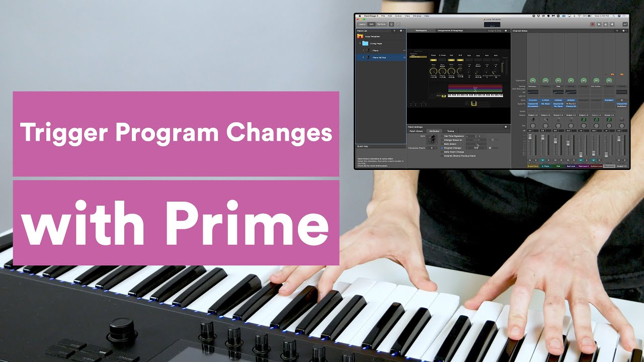 How to Trigger Program Changes in MainStage with Prime