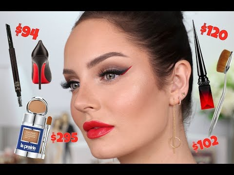 $3,500 Worth Of Designer Makeup! Using my MOST Expensive Products: 'Red Bottom' Louboutin Eyeliner