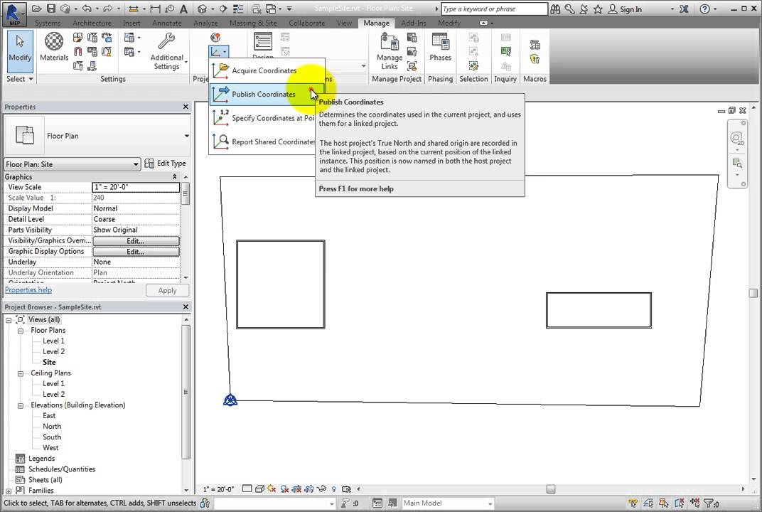 Linking Revit Models by Shared Coordinates