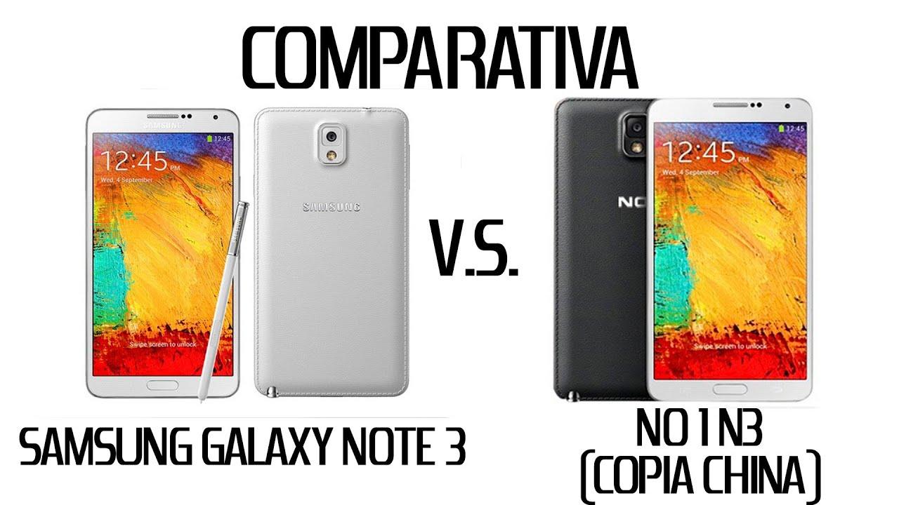 Comparativa Samsung Galaxy Note 3 Vs No1 N3 Copia China
