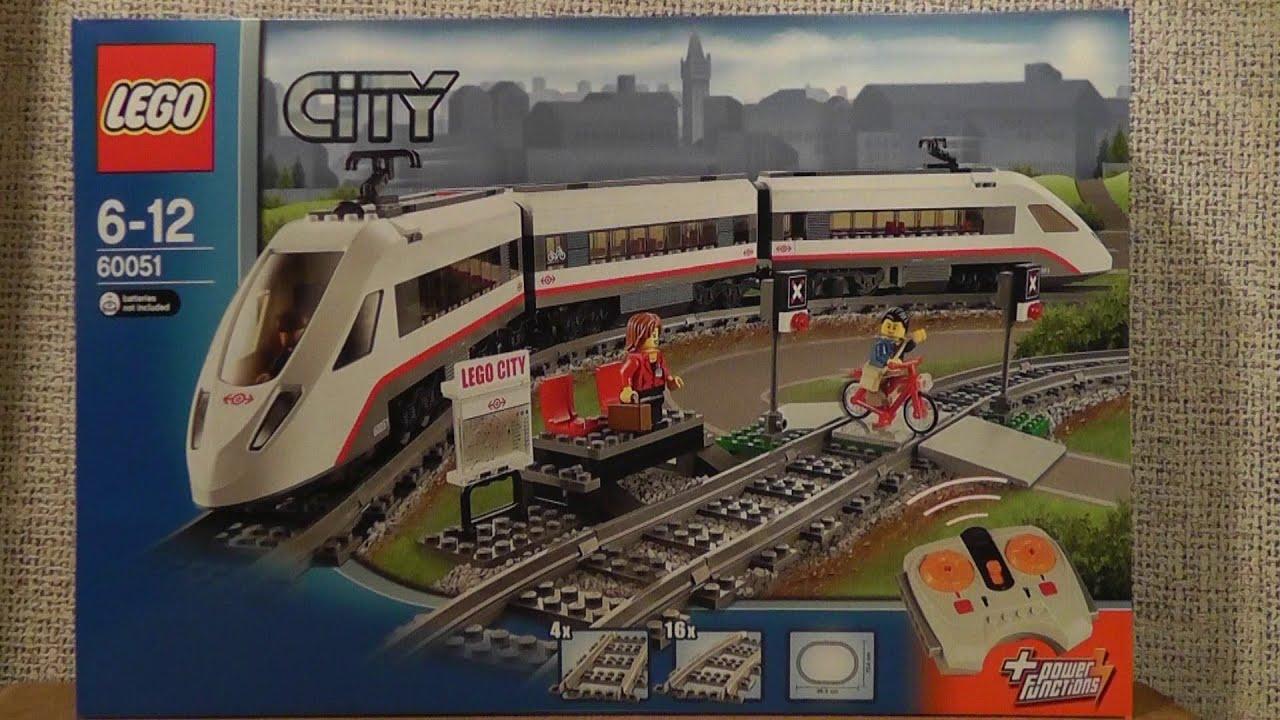 Lego City 60051 Superszybki Pociąg Pasażerski Youtube