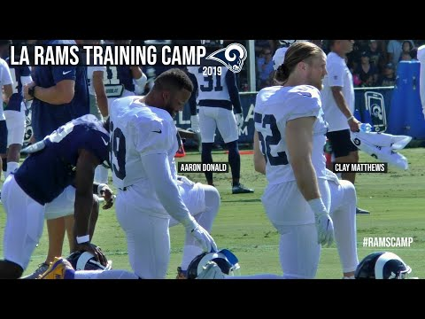 LA Rams Training Camp 2019 Working Out With Clay Matthews Aaron Donald