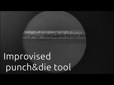 Precision washers - Improvised punch/die tool