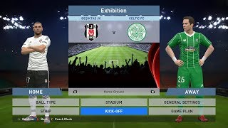 Besiktas JK vs Celtic FC, BJK Vodafone Park, PES 2016, PRO EVOLUTION SOCCER 2016, Konami, PC GAME