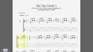 CARULLI GUITAR Tab - No 1