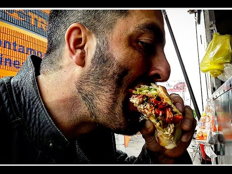 REAL STREET FOOD!! delicious MEXICAN TORTA!!