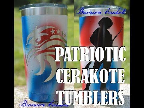Patriotic Cerakote Tumblers | Patriotic Tumbler Stencils